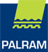 Palram logo featuring their name and a shade awning
