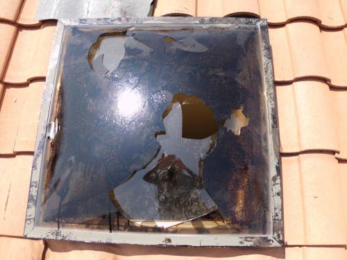 Acrylic Dome Skylight Meets Hail 1