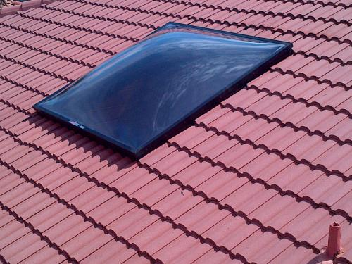 Installed Skylight Polycarbonate Domes 8