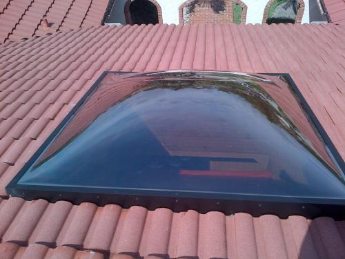 Installed Skylight Polycarbonate Domes 9